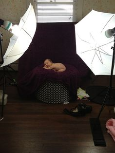 Baby Session Setup Group on Flickr: shows how they set-up each shot with a final shot to compare.  All things baby!