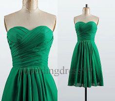 Short Green Chiffon Bridesmaid Dresses 2014 Evening Gowns Party Dress New Bridesmaid Dresses Cocktail Dresses Cheap Dress