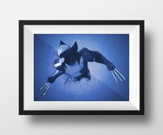 Digital Download Wolverine Abstract Monochrome by dotsonthewall