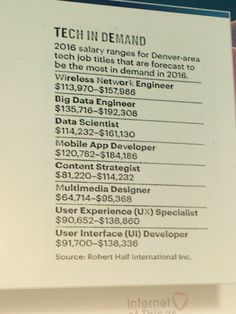 These jobs did not exist in CO about 5 yrs ago #Arrow #iotworld16 @cleviter - Twitter Search