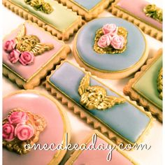 Galletas Romanticas por OneCakeaDay en Etsy