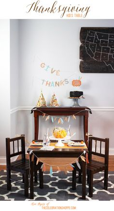 Thanksgiving Kids Table | Kim Byers, TheCelebrationShoppe.com