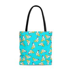 Cool Banana Cartoon Blue Tote Bag   Etsy Handmade Items, Handmade Gifts, Bag Sale, Black Cotton, Craft Supplies, Reusable Tote Bags, Cartoon, Trending Outfits, Unique Jewelry