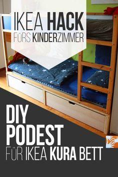 IKEA Hack fürs Kinderzimmer: DIY Podest für IKEA Kura Bett