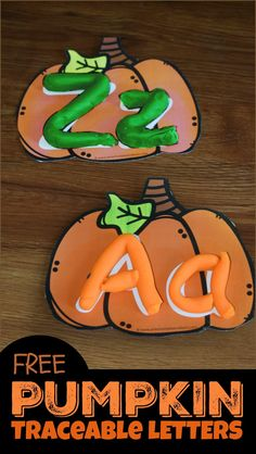FREE Pumpkin Traceable Letters – free printable alphabet activity for kids to practice forming upper and lowercase letters - Education and lifestyle Preschool Games, Preschool Classroom, Preschool Learning, Preschool Crafts, Phonics Games, Abc Games, Future Classroom, Kid Crafts, Upper And Lowercase Letters