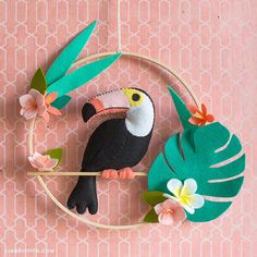 Felt Toucan Wall Art