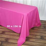 90 x 156 inch Fuchsia (Fushia) Polyester Rectangular Tablecloth Checkered Tablecloth, Tablecloth Sizes, Tablecloth Fabric, Banquet Tables, Party Tables, Wedding Tablecloths, Diy Invitations, Diy Table