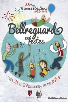"Cartel elegido para representar a ""Bellreguard en Festes 2013"""