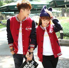 TH000138 Korean style couple clothes plus velvet cardigan