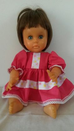 My charity case! She came to me very abused! I have given her a new lease on life with a new wig a scrub and new clothes! A whole new doll was born! Aint she so cute! New Dolls, No One Loves Me, New Outfits, Childhood Memories, Wig, Charity, Baby Dolls, First Love, Flower Girl Dresses