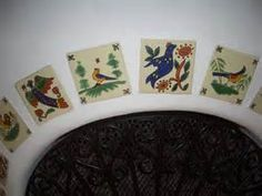 images mexican hand painted tiles on fireplace - Bing Images