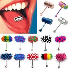 New Stainless Steel Vibrating Tongue Ring $2.19