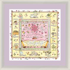 A special gift for A Special Little Girl, this sweet & lively print contains the traditional childrens' blessing recited by parents on Shabbat.  Available with White Frame and Lavender Mat