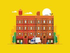 Dribbble - City Block - via #designhunt