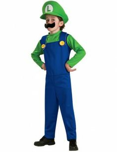 You can be the life of the party with one of these Super Mario Brothers Halloween costumes. Mario and Luigi costume Costume Luigi, Costume Garçon, Cute Costumes, Costume Shop, Costume Ideas, Clown Costumes, Family Costumes, Super Mario Brothers, Super Mario And Luigi