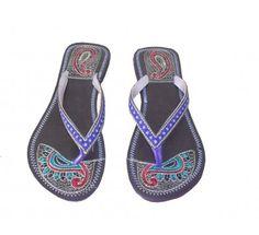 65c91273d2e08  Beautiful  Indian  Handmade  Leather  Women  Slipper  Flipflop  Mojari   Shoes