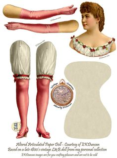EKDuncan - My Fanciful Muse: 1880's Stage Performer German Paper Doll by L&B