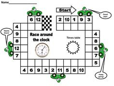 race around the clock times table game from http://www.chjs.net/classpage_list.asp?Section=105