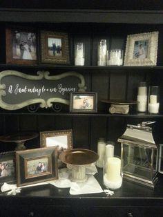 Bride & Groom display