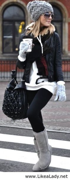 Winter outfit, minus the Uggs