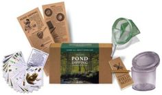 The Flights of Fancy Pond Dipping Kit is a great introduction to exploring ponds and discovering the creatures that live in them.   http://shop.froglife.org/shop/ProductDetailLandscape.aspx?ID=70