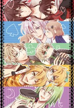 Shin, Ikki, Kent, Toma, and Ukyo - Amnesia Me Me Me Anime, Anime Guys, Manga Anime, Amnesia Characters, Anime Characters, Amnesia Otome Game, Amnesia Memories, Otaku, Kamigami No Asobi