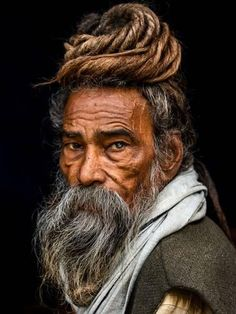 Photographic Print: Portrait of a Sadhu... by Rakesh J.V : 24x18in