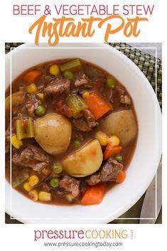 Instant Pot Beef Stew Recipe, Instant Pot Dinner Recipes, Pressure Cooker Beef Stew, Instant Pot Pressure Cooker, Instant Cooker, Beef Recipes, Soup Recipes, Cooking Recipes, Ninja Recipes