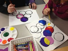 Painting with circles! Colorful and creative art activity. #DotDay!