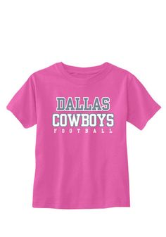 Kids, show support for your favorite team with this Dallas Cowboys Infant Girls Pink Infant Logo Practice Short Sleeve Tee! Rally House has a great selection of new and exclusive Dallas Cowboys t-shirts, hats, gifts and apparel, in-store and online. Cowboys Gifts, Cowboys Shirt, Cowboy Store, Dallas Cowboys Hats, Cowboy Gear, Short Sleeve Tee, Rally, Pink Girl, Cave