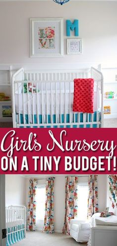 No need to spend lots to get a beautiful nursery! Lots of real, affordable ideas in this beautiful room! save money on babies, #SaveMoney #Money
