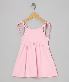 Take a look at this Light Pink Tie Top Dress - Toddler & Girls by Smockadot Kids on #zulily today!