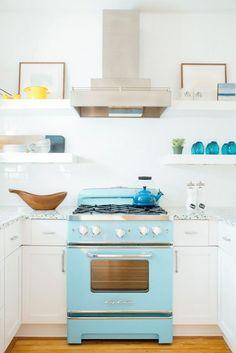 turquoise retro stove   Cortney Bishop Design