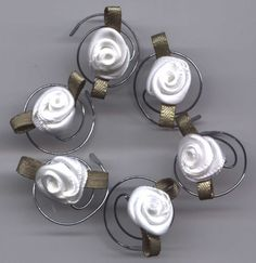 Beautiful White Roses for your Hair Swirls Spins by hairswirls1, $9.99