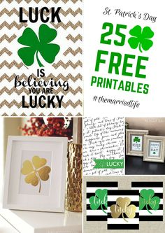 Last minute decorating help for St. Patrick's Day | 25 Free Printables to choose from