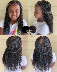2019 Lovely Stunning Braids for Kids - kids braided hairstyles - Little Girl Braids, Black Girl Braids, Braids For Black Hair, Braids For Kids, Kid Braids, Cornrows Kids, Tree Braids, Little Girl Braid Styles, Girl Hair Braids
