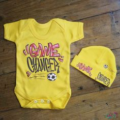 Game Changer Baby Grow And Beanie Set from Lulah Blu. Add your own art work and text to a baby grow, we have all sizes from Newborn to 2 years. Baby Gift Sets, Game Changer, Baby Grows, Beanie, Games, Kids, Baby Jumpsuit, Young Children, Boys