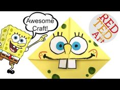 Easy Spongebob Craft Corner Bookmark (BONUS VIDEO!) Cool Craft Idea - YouTube