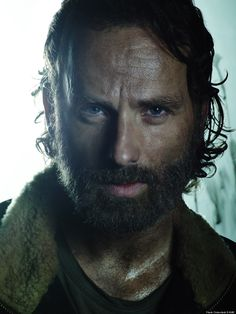Andrew Lincoln as Rick Grimes in the new season 5b cast promo pics