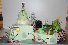 Princess and the Frog Cake  www.creativecakesbynicole.webs.com
