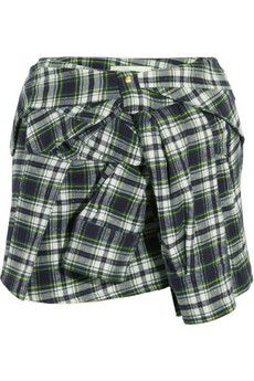 Faith Connexion Plaid cotton-blend flannel mini skirt | NET-A-PORTER