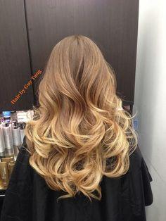 Ombre balayage hair
