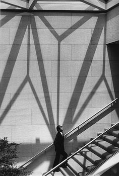 By Marc Riboud. Ieoh Ming Pei, architecte, 1 9 8 9.