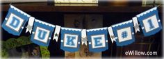 tutorial on making @Duke University banner! Easily replicated for any school! #college #decor #crafts