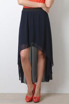 Whimsical Lane Maxi Skirt    Navy makes this feel grown up.