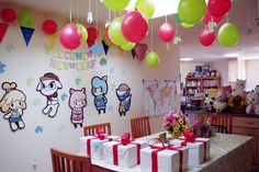 This Might Be The Cutest Animal Crossing Party Ever It looks kinda like they have the Harvest Moon alpaca plush :) I want it. Harvest Moon, Animal Games, My Animal, Happy Home Designer, Animal Crossing Game, New Leaf, Fan Art, Birthday Parties, Birthday Ideas
