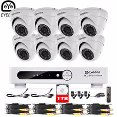 449.99$  Buy now - http://aliarz.shopchina.info/1/go.php?t=32808906801 - Eyedea 16 CH HDMI Video DVR Recorder 2.0MP CMOS Dome Outdoor LED Night Vision Surveillance CCTV Security Camera System Kit 1TB  #shopstyle