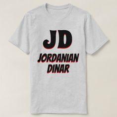 JD  دينار Jordanian dinar grey T-Shirt - click/tap to personalize and buy