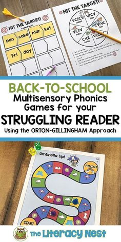 Write your Orton-Gillingham lesson plans and you will be ready to go with this extensive bundle of multisensory games to support your instruction. This is an updated growing bundle that now has over 90 phonics games! Click here to shop! The Literacy Nest #ortongillingham  #phonicsgames Reading Games, Reading Strategies, Reading Skills, Dyslexia Strategies, Reading Practice, Guided Reading, Phonics Chart, Phonics Activities, Dyslexia Activities