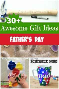 Over 30 fathers day gift ideas from KiddyCharts. Be sure to make one of these great crafts for your LOs Dad.